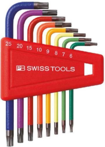 PB Swiss Tools Jeux de clés mâle six pans PB 410.H 6-25 RB