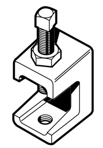 Flensklem  Smeedbaar gietijzer  Elektrolytisch verzinkt  LC