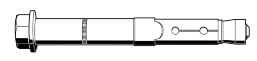 FISCHER Veiligheidsanker type FH II-S Staal Elektrolytisch verzinkt FH II 18/25 S
