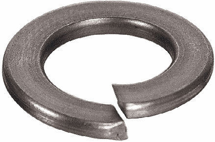 Spring lock washer with square ends DIN 127 B Spring steel Zinc plated M4
