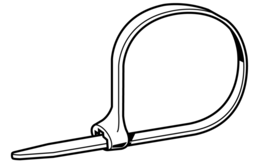 Cable tie with stainless steel clip