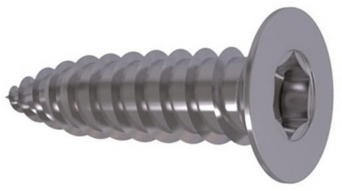 Hexalobular socket countersunk head tapping screw ISO 14586 C Stainless steel A2 ST2,2X13MM