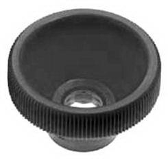 High knurled knob for hexagon bolts and nuts Plastic Polyoxymethylene high M4X17