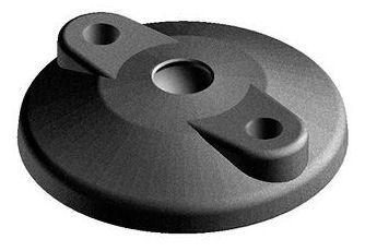 FATH Foot plate with anti-slip plate and fixing holes, ball joint ø 15 mm Plastic Polyamide (nylon) Black 100MM