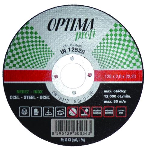 Optima Rezný kotúč IN11510 115X1,0 A36N