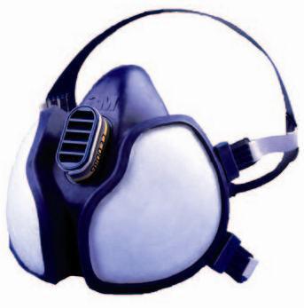 3M Gelaatsschermen Maintenance Free Half Face Mask FFA1P2 R D 4251