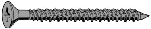 Anchoring screw countersunk type TAPC  Steel  Perma-Seal