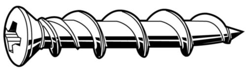 POWERS Verzonken schroef Staal Elektrolytisch verzinkt witte kop