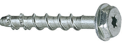 Concrete anchoring screw hex/hexalobular type US/TX Carbon steel fully hardened Zinc plated