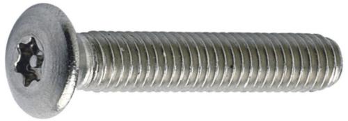 SECURITY Hexalobular socket raised countersunk machine screw with pin Stal nierdzewna A2 M3,5X50