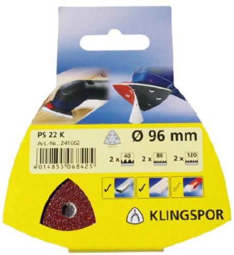 Klingspor Clean & finish disc 96 K80 6GATEN GLS15