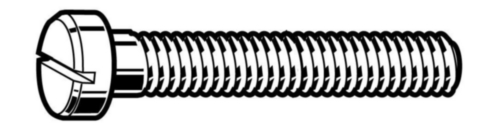 Slotted pan head screw small head DIN 920 Stainless steel A2