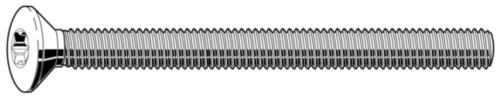 Vis à métaux tête fraisée bombée six lobes internes DIN ≈966 A Acier inoxydable (Inox) A2 M2X6