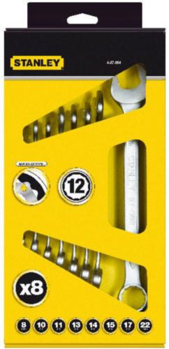 Stanley Jeux de clés à fourches doubles 4-87-054 8-DLG ST/RING