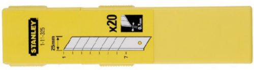 Stanley Replacement blades 0-11-325 11-325 25MM DISP10PC