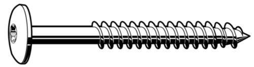 Truss head woodscrew Stainless steel