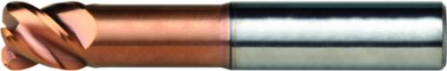 Dormer Corner radius end mill S521 SC Titanium-Silicium-Nitride 5.0XR0.5