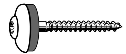 Tornillo para madera/3TG arandela TX Acero inoxidable (Inox) A2 Cobreado anillo ø=20mm