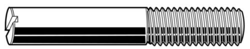 Stelschroef met schacht DIN 427 Staal Rechts Blank 14H 3X12MM