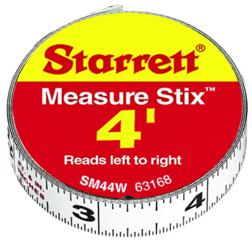 "STAR MEASURING TAPE SM44W 1/2""X4"