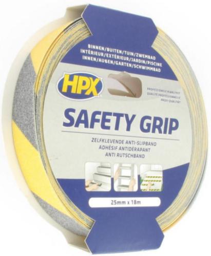 HPX Anti-slip tape Geel/Zwart 25MMX18M SY2518