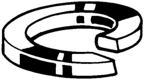Anilha mola com pontas quadradas din 127a DIN 127 A Aço mola Sem tratamento de superficie