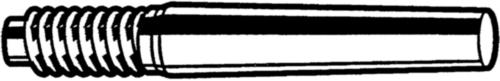 DIN 258 Kuželové kolíky s vnějším závitem DIN 258 Ľahko obrobiteľná oceľ Nelegovaná