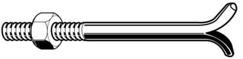Bolțuri DIN 529C pentru ancorare în zidărie DIN 529 C Oțel Zincat 4.6 M20X320