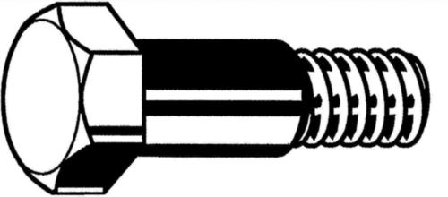 Parafuso sextavado de ajuste com rosca curta din 610 DIN 610 Aço Sem tratamento de superficie 8.8