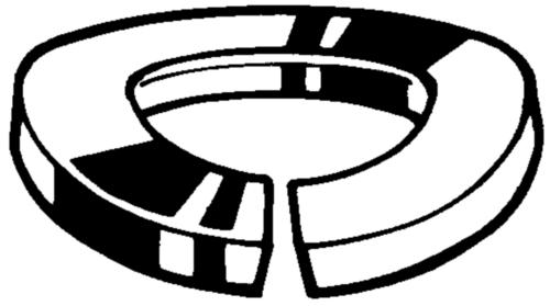 Anilha mola curva din 128b DIN 128 B Aço mola Zincagem mecânica