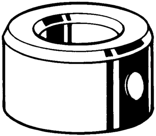 Adjusting ring with pin hole DIN 705 B Free-cutting steel Plain