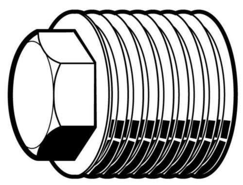 Dopuri filetate cap hexagonal, filet paralel, metric fin DIN 909 Oțel Simplu