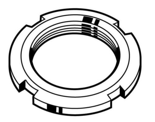 Verschlussmutter für Kugellager, MF DIN 981 Stahl Blank 14H