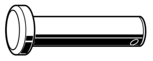 Gaffelpen ISO 2341 B Automatenstaal Elektrolytisch verzinkt