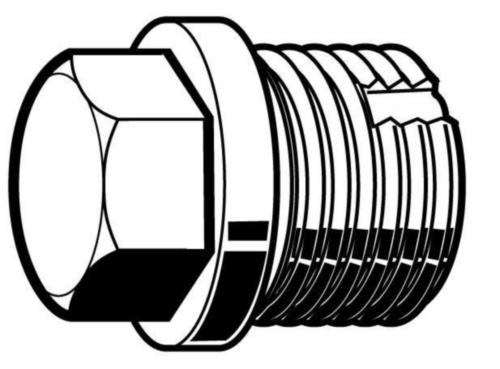 Sechskantverschlussschraube DIN 5586b nichtmetrisch DIN 5586 B Stahl Elektrolytisch verzinkt