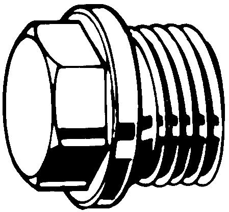Hexagon head screw plug long with collar MF DIN 7604 C Steel Plain