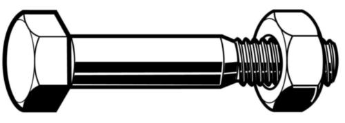 Tornillo cabeza hexagonal con tuerca ce din 7968 EN 15048 Acero Sin revestimiento 8.8/8