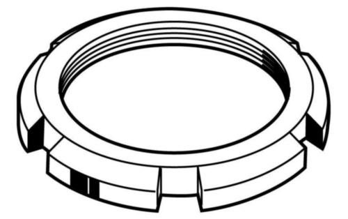 Schlitzmutter, MF DIN 70852 Stahl Blank 17H