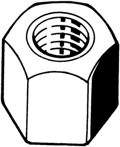 Šestihranná matice s trapézovým závitem 1,5xD Ocel Bez PU