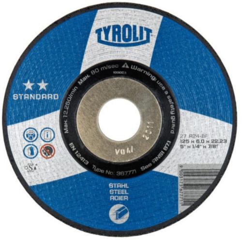 Tyrolit Disco de rebarbar 367771 125X6,0X22,2