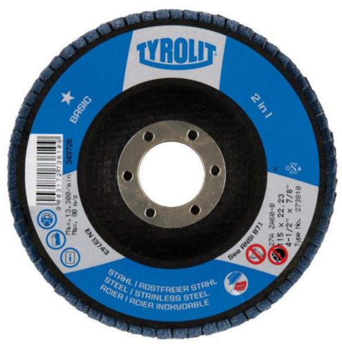 Tyrolit Disco de lamelas 273884 115X22,2 ZA40B K 40