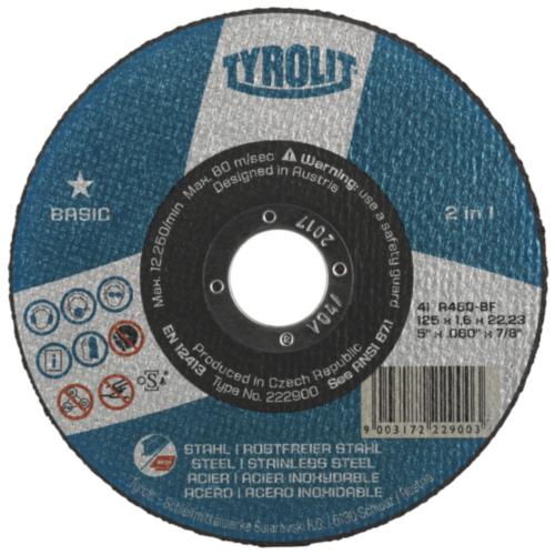Tyrolit Doorslijpschijf 34039969 TYROLIT BASIC SET 125X1X22