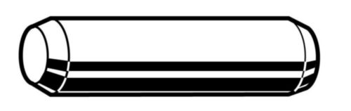 Dowel pin unhardened ground ASME ASME B18.8.2 Stainless steel AISI 304