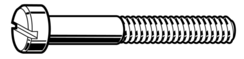 Machine screw pan head slot UNC asme B18.6.3 ASME B18.6.3 Stainless steel A2 (AISI 304/18-8) 1/4-20X7/8