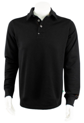 TRIF POLOSWEATER SOLID BLACK L