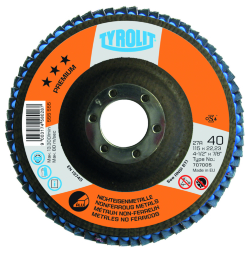 Tyrolit Flap disc 150X22,23 K40