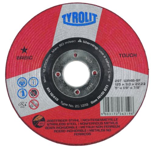Tyrolit Disco desbarbado 100X16
