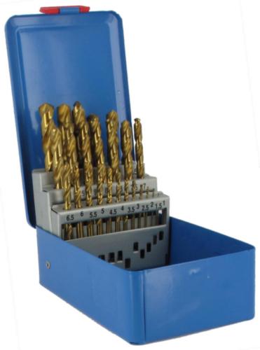 Fabory Jobber drill set DIN 338 RN HSSG TiN 1-13 25PC HSSG TIN CASS