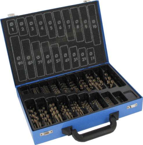 Fabory Jeu de mèche metale DIN 338 RN HSS Co 5 1-10 0,5 HSSE 170 PC BOX