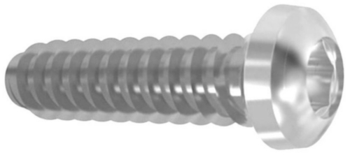 Hexalobular socket pan head tapping screw ISO 14585 F Steel Zinc plated 4.8